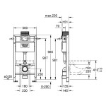 Grohe Rapid SL 2 in 1 Set for WC 1.0m 38947