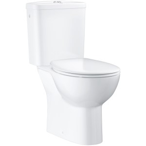Grohe Bau Ceramic Close Coupled Toilet Pack with Soft Close Seat 39496