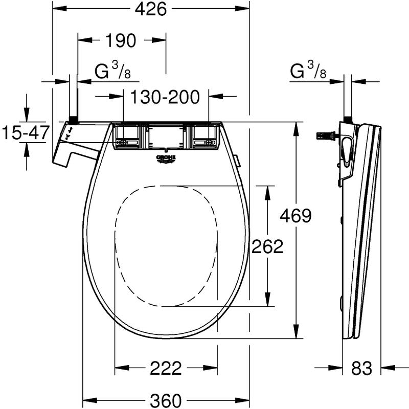 Grohe Bau Manual Bidet Seat 39648