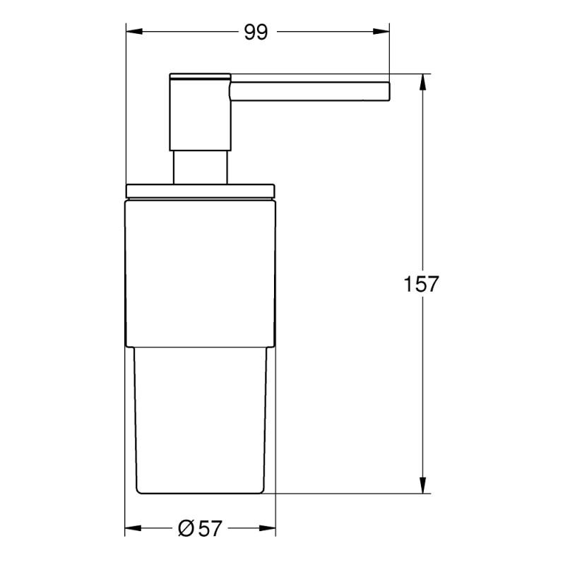 Grohe Atrio Soap Dispenser 40306 Brushed Graphite