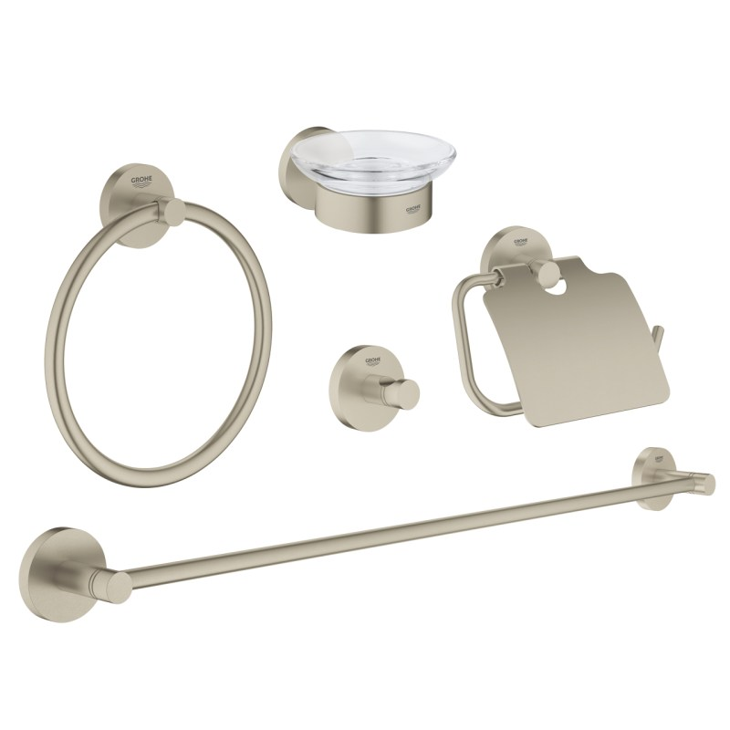 Grohe Essentials Master 5-in-1 Accessories Set 40344 Brushed Nickel