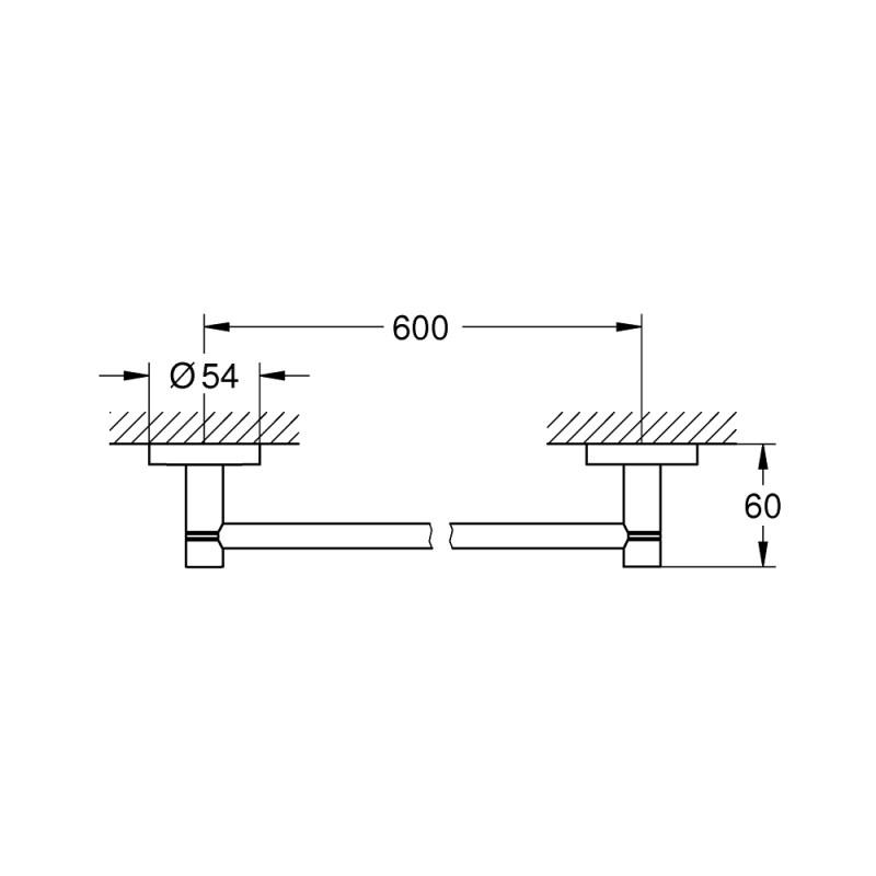 Grohe Essentials 600mm Towel Rail 40366 Warm Sunset