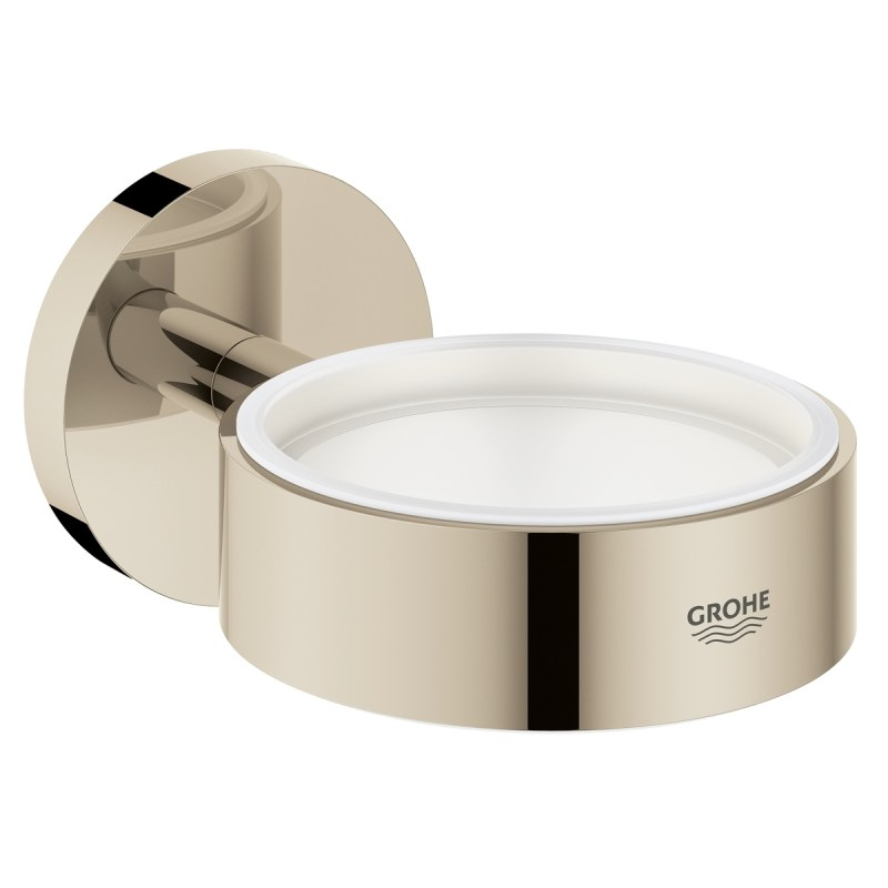 Grohe Essentials Glass/Soap Dish Holder 40369 Polished Nickel