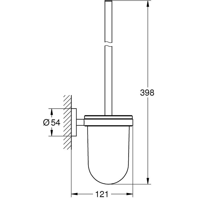 Grohe Essentials Toilet Brush Set 40374 Cool Sunrise
