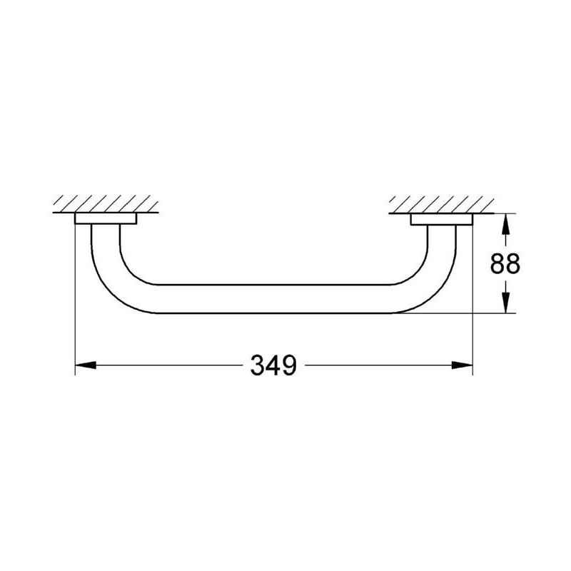 Grohe Essentials Grip Bar 40421 Brushed Warm Sunset