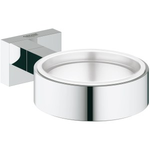 Grohe Essentials Cube Glass/Soap Dish Holder 40508