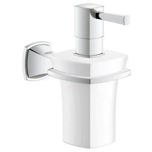 Grohe Grandera Holder & Ceramic Soap Dispenser 40627 Chrome