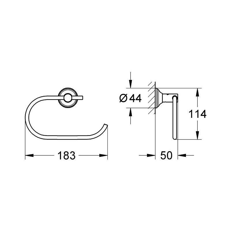 Grohe Essentials Authentic Toilet Roll Holder 40657