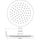 Hudson Reed Round Minimalist Fixed Shower Head 200mm