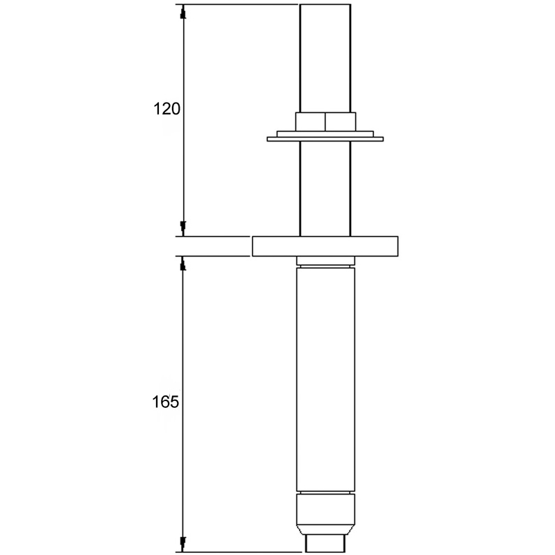 Hudson Reed Ceiling Mounted Shower Arm