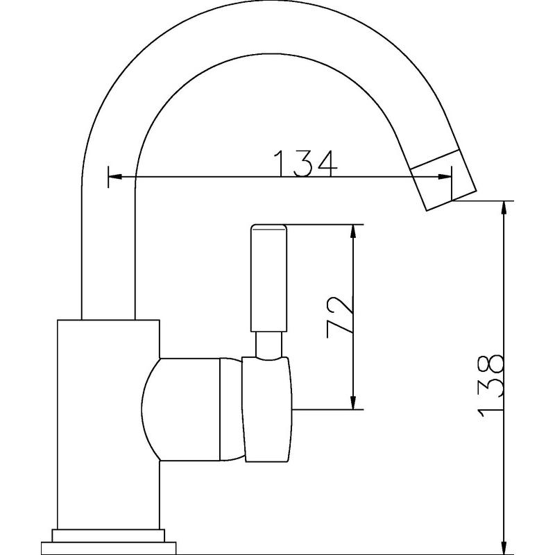 Hudson Reed Tec Single Lever Mini Mono Basin Mixer
