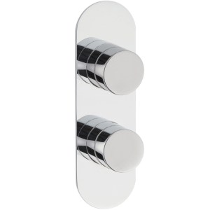 Hudson Reed Indus Twin Thermostatic Shower Valve with Diverter