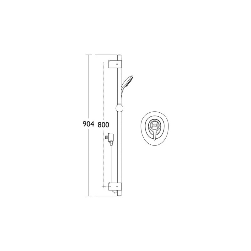 Ideal Standard CTV EL Thermostatic Built-In Shower Pack A5784