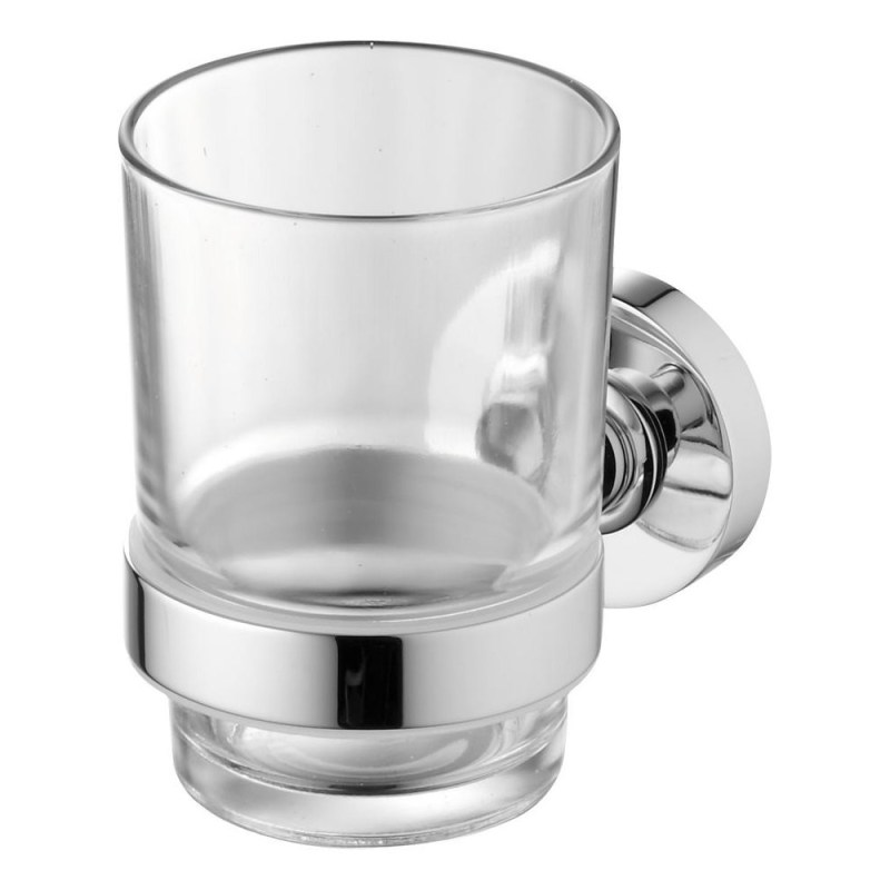 Ideal Standard IOM Clear Glass Tumbler & Holder A9121