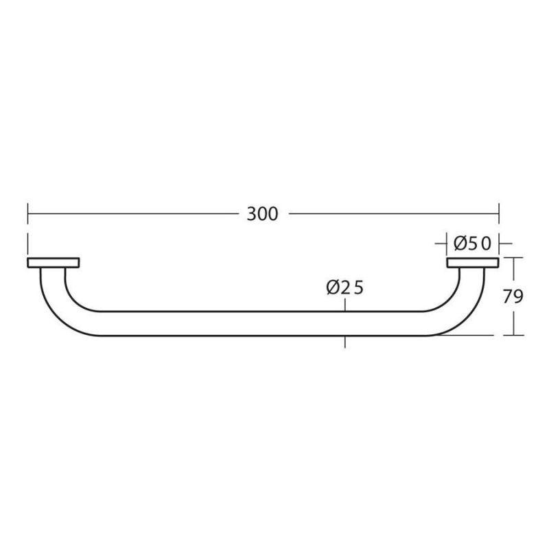 Ideal Standard IOM Grab Rail 300mm A9126