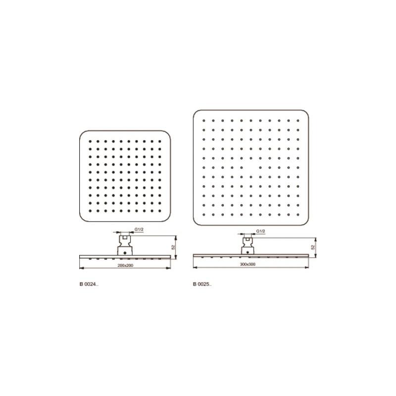 Ideal Standard Idealrain Cube L1 Rainshower B0025
