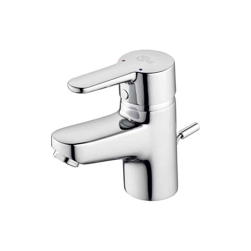 Ideal Standard Concept Blue Small Basin Mixer with Waste B0671