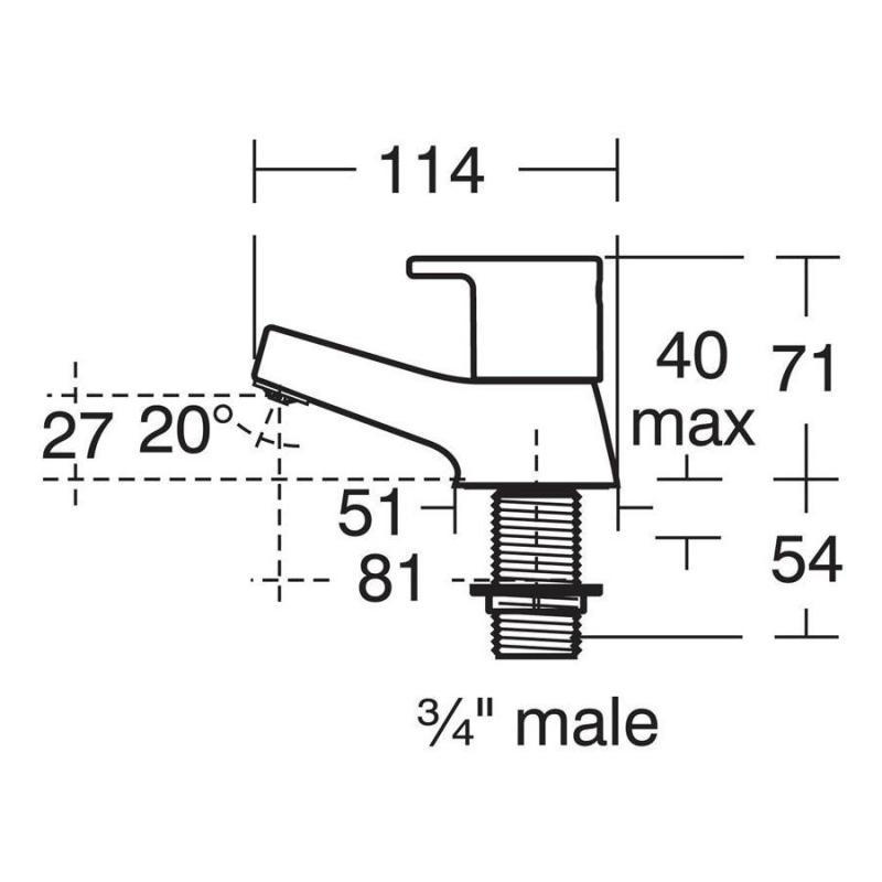 Ideal Standard Calista Bath Pillar Taps B1147
