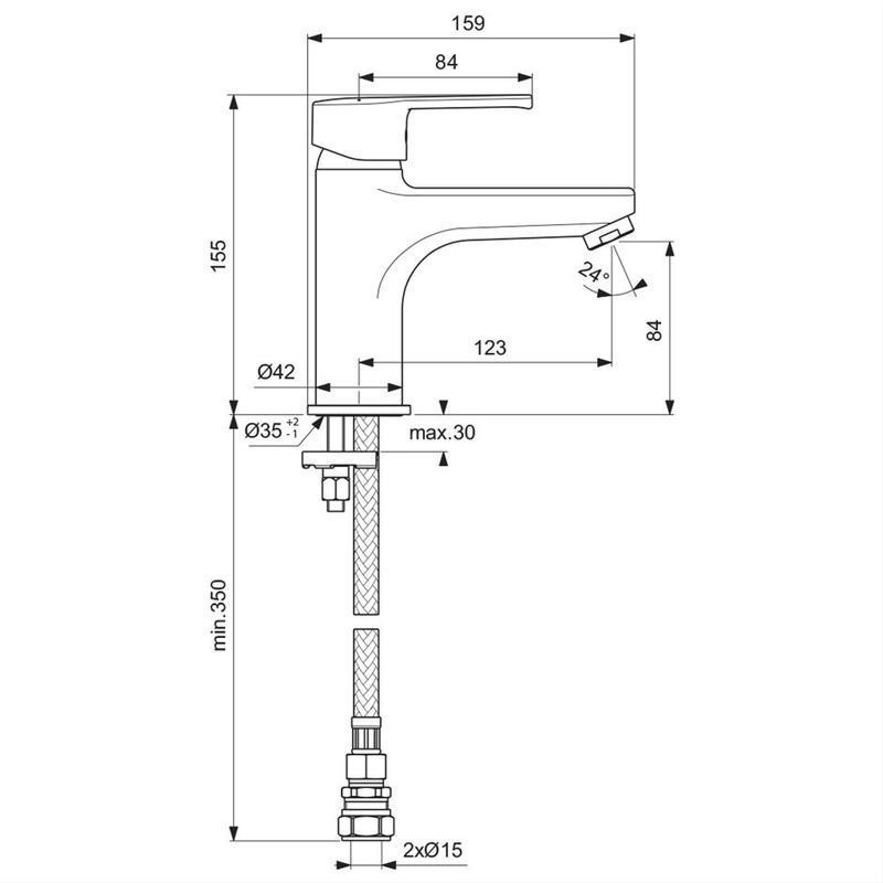 Ideal Standard Calista One Hole Bath Filler B2137