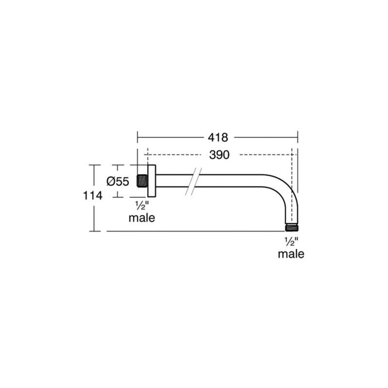 Ideal Standard Idealrain 400mm Wall Arm B9445