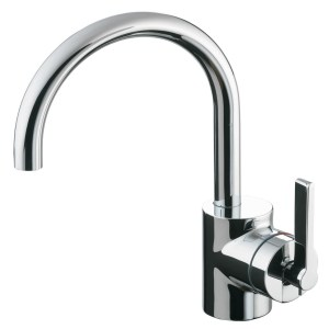 Ideal Standard Silver Basin Mixer with Pop Up Waste E0067