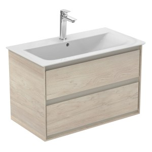 Ideal Standard Concept Air 800mm Light Brown Vanity Unit with 1 Hole Basin