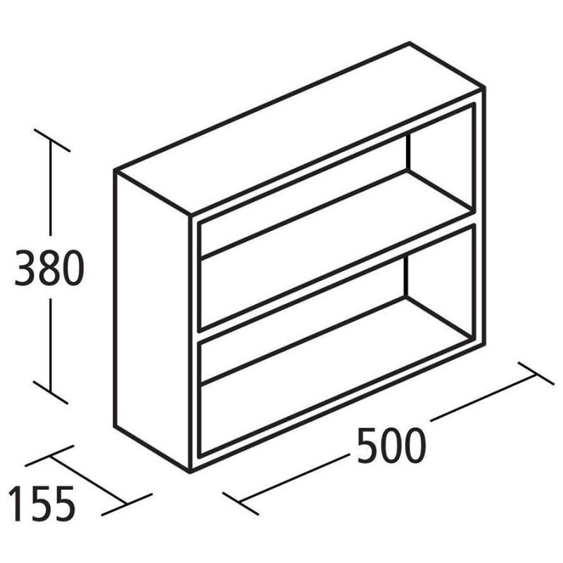 Ideal Standard Concept Space 500mm Fill In Shelf Unit E1435 Oak