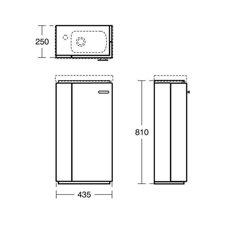 Ideal Standard Concept Space 450mm Basin Unit LH E1438 Walnut