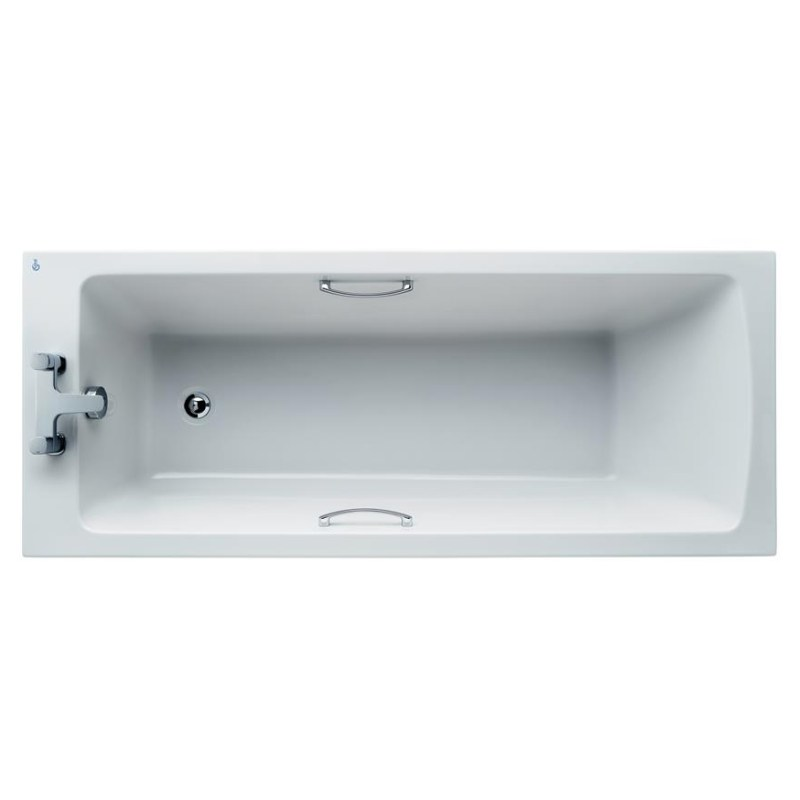 Ideal Standard Tempo 170x70cm Plus+ Bath with Handgrips E1559