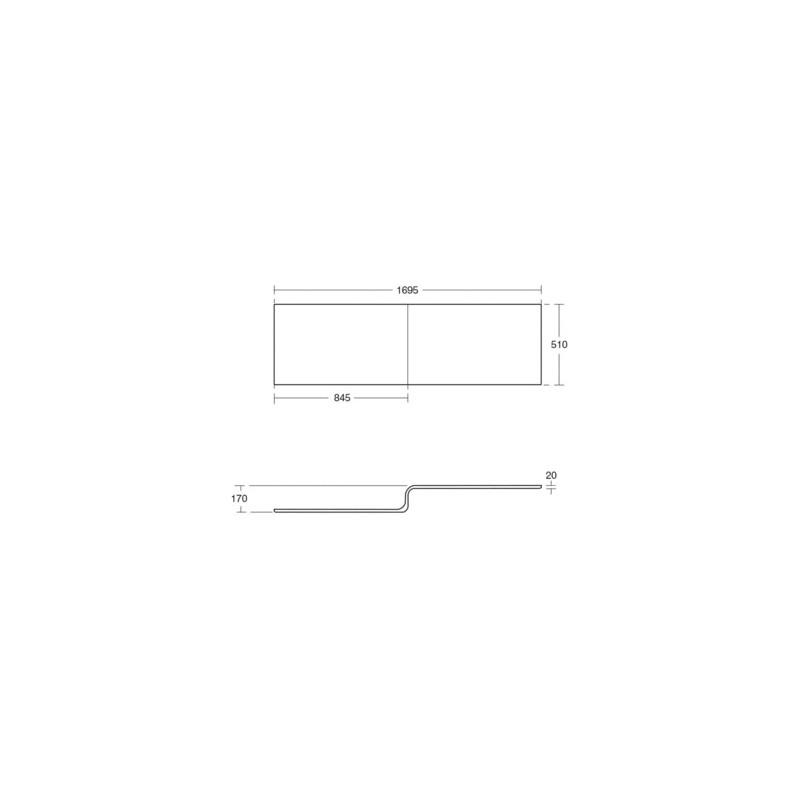 Ideal Standard Tempo Cube Shower Bath Front Panel E2596