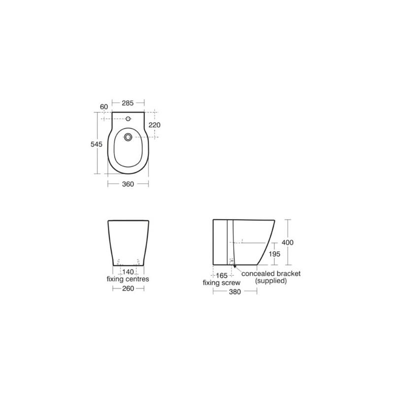 Ideal Standard Concept Floor Standing Bidet E7994