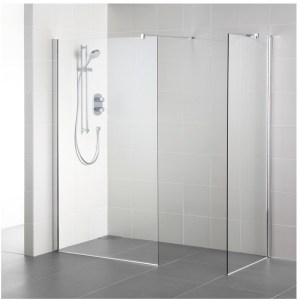 Ideal Standard Synergy 900mm Wet Room Panel L6223 Bright Silver