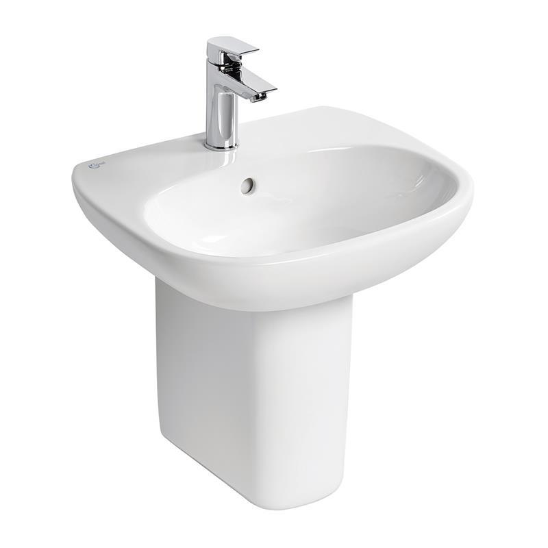 Ideal Standard Tesi 50cm Pedestal Basin 1 Hole T0312 White