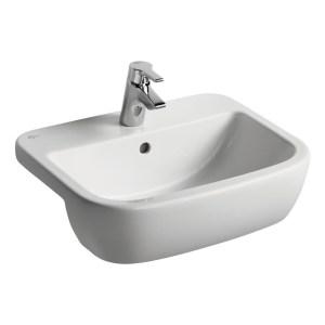 Ideal Standard Tempo 55cm Semi Countertop Basin 1 Taphole T0590