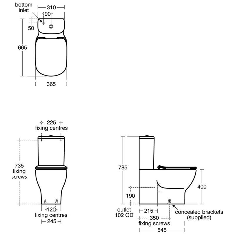 Ideal Standard Tesi Close Coupled Cistern T3569