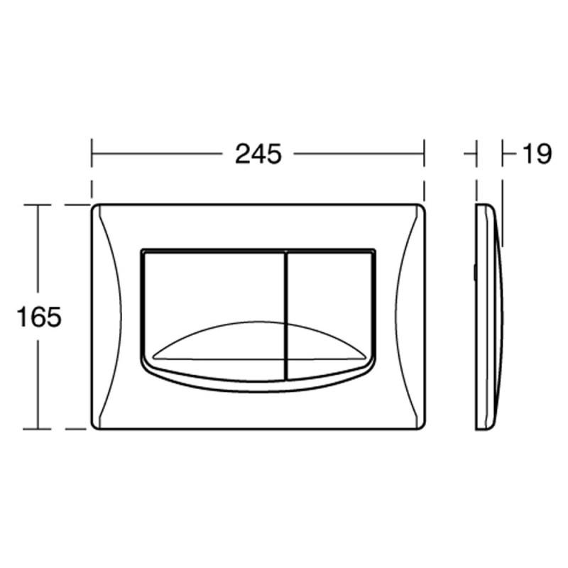 Ideal Standard Mechanical Flush Plate River VV638 Chrome