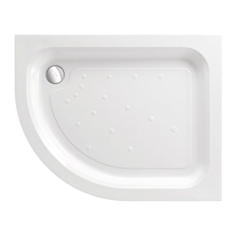 Just Trays Ultracast 1000x800mm LH Offset Quadrant Shower Tray