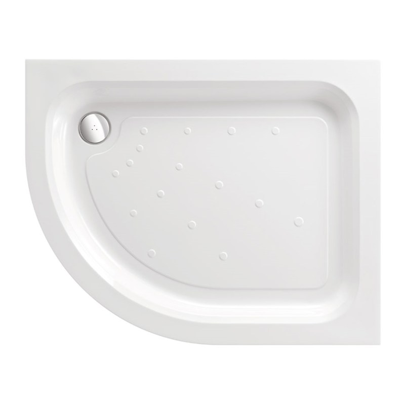 Just Trays Ultracast 1200x800mm LH Offset Quadrant Shower Tray