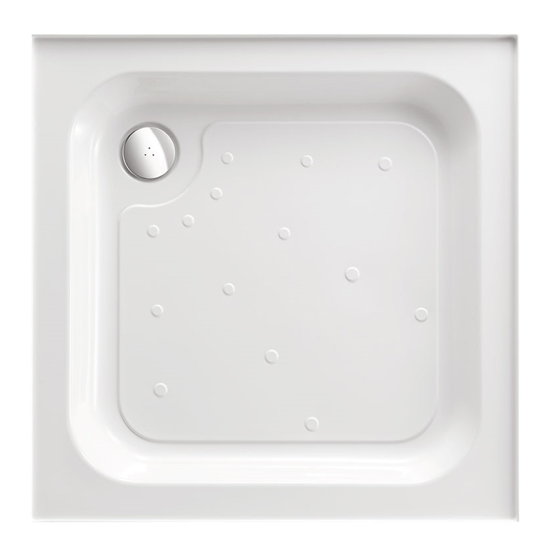 Just Trays Ultracast 800mm Square Shower Tray 4 Upstands