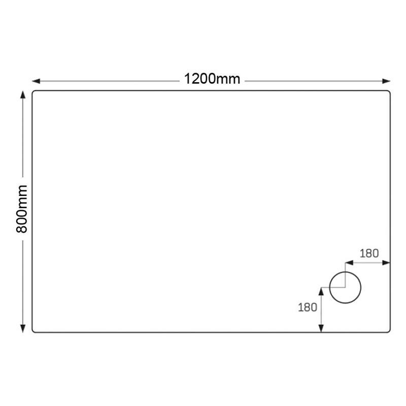 Just Trays Ultracast 1200x800mm Rectangular Tray Anti-Slip