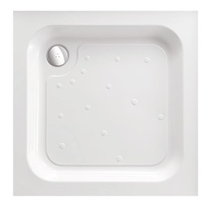 Just Trays Ultracast 700mm Square Shower Tray Anti-Slip