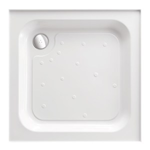 Just Trays Merlin 700mm Square Shower Tray 4 Upstands Anti-Slip