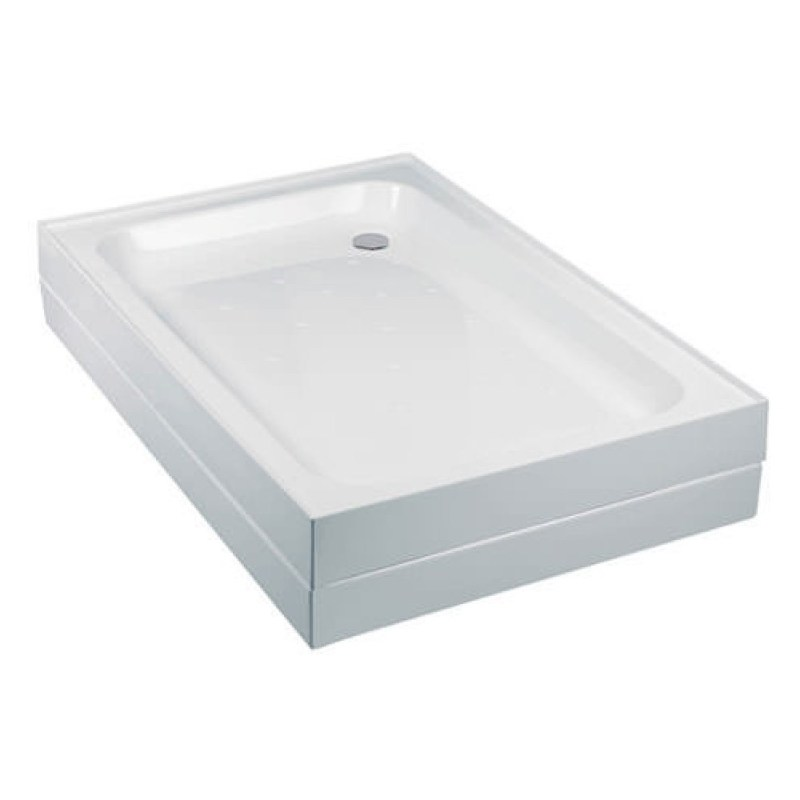 Just Trays Merlin 760mm Square Shower Tray Anti-Slip 4 Upstands