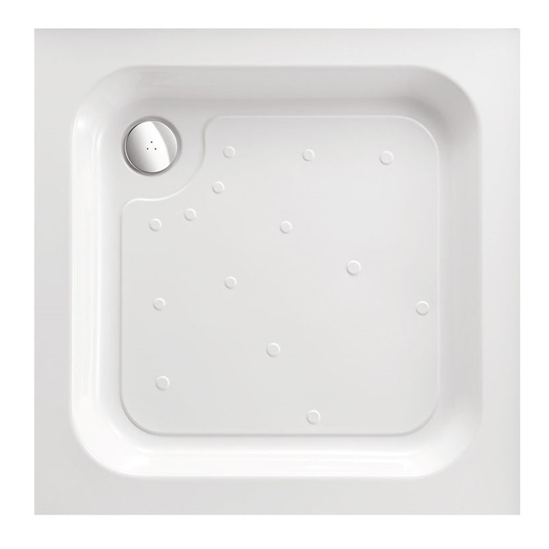 Just Trays Ultracast 800mm Square Shower Tray Anti-Slip