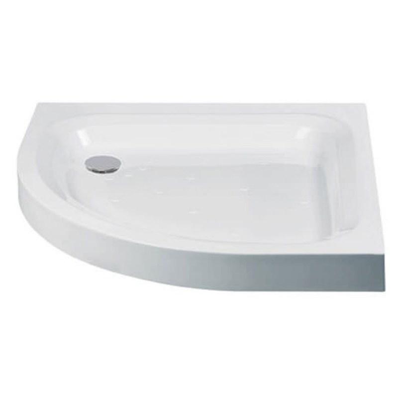 Just Trays Ultracast 900x760mm LH Quadrant Shower Tray Anti-Slip