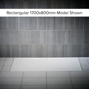 Just Trays Evolved Anti-Slip 1700x800mm Rectangular Shower Tray