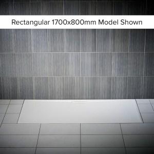 Just Trays Evolved Anti-Slip 1800x800mm Rectangular Shower Tray
