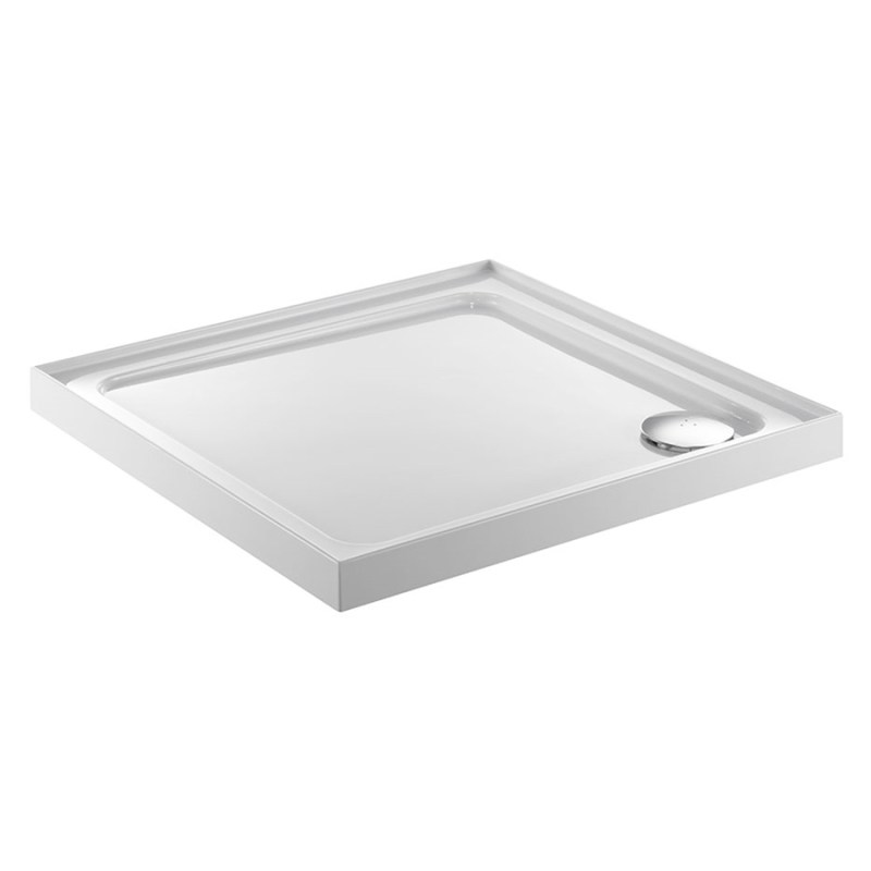 Just Trays Fusion 700mm Square Shower Tray 4 Upstands Anti-Slip
