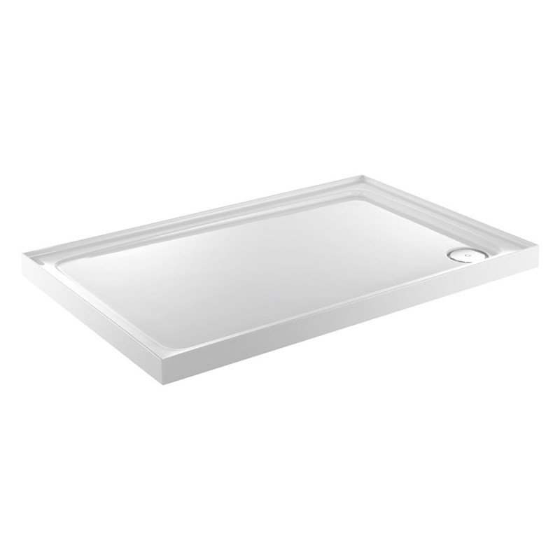 Just Trays Fusion 1400x800mm Shower Tray 3 Upstands LH