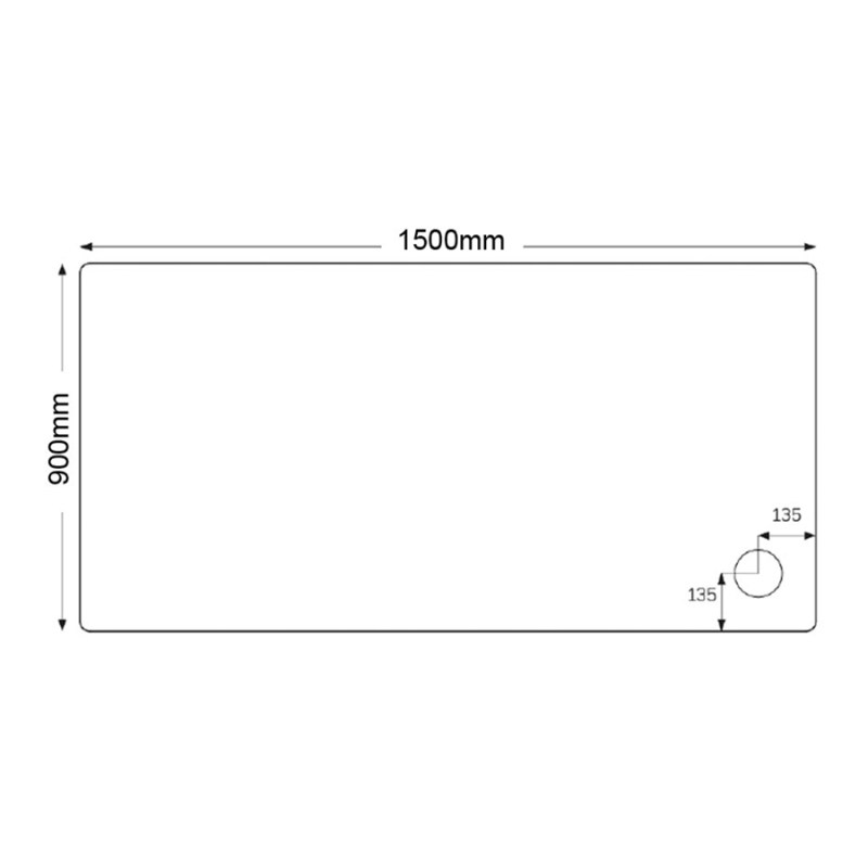 Just Trays Fusion 1500x900mm Rectangular Shower Tray